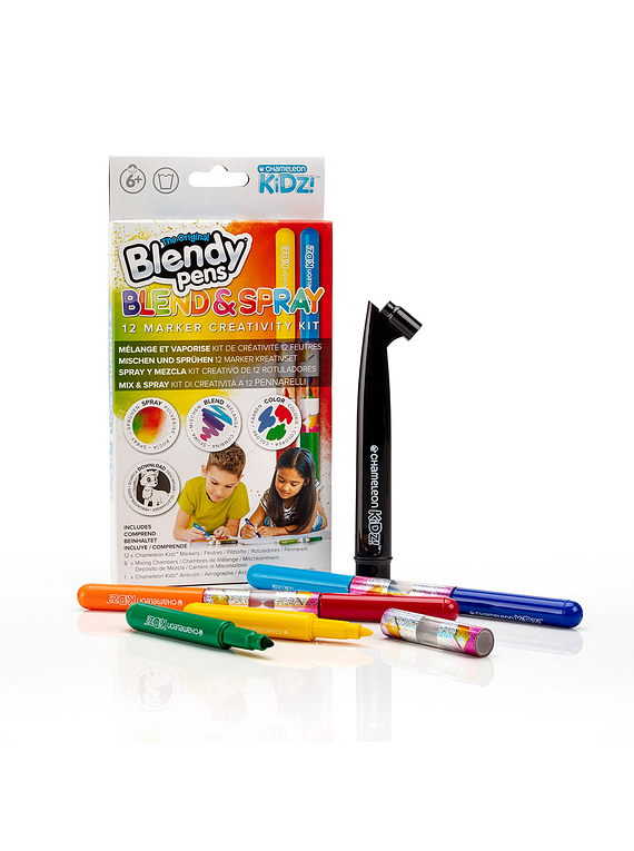 Chameleon Kidz Blendy Pens - Set 12 Marcadores Blend & Spray