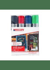 Edding 4090 - Set 4 Marcadores de Tiza Liquida (15 mm)