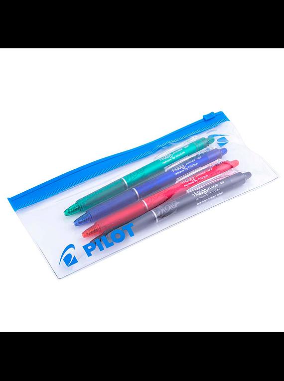 Pilot Frixion Clicker - Set 4 Lápices Tinta Gel Borrables Pack 1