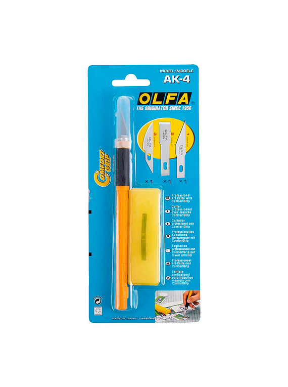 Olfa - Cuchillo de Arte Profesional ComfortGrip AK-4