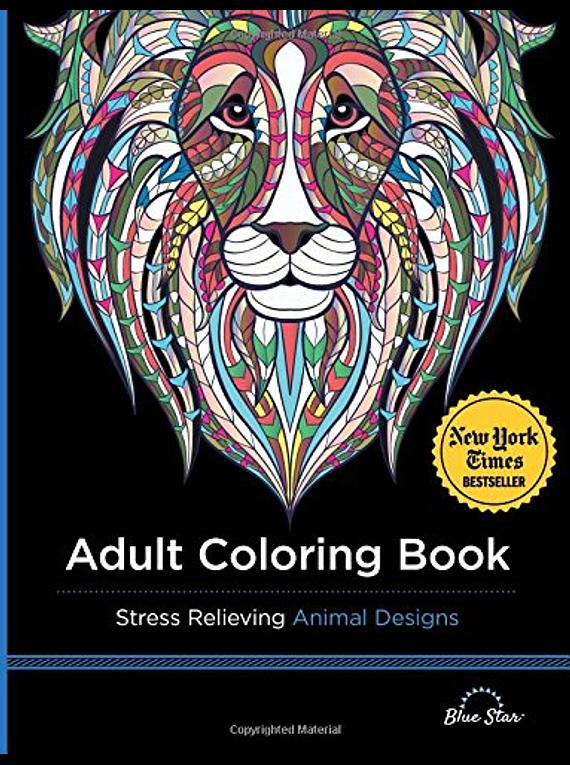 Libro de Mandalas: Libro de Colores para Adultos, Diseños Anti Stress Animales
