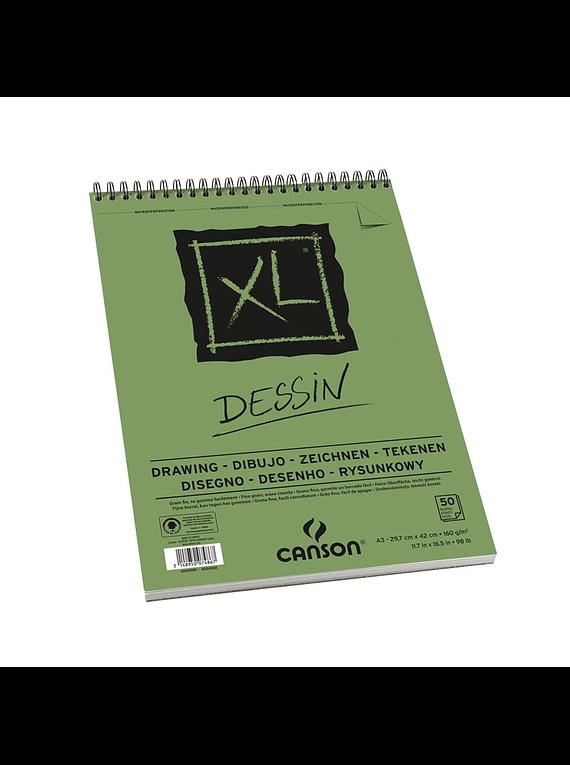 Canson XL - Croquera Dessin, A4 21 x 29,7 cm, 50 Hojas, 160 gr/m2