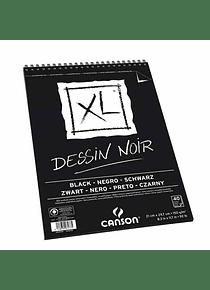 Canson XL - Croquera Dessin Noir, A4 21 x 29,7 cm, 40 Hojas, 150 gr/m2