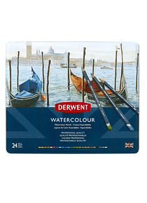 Derwent Watercolour - Set de 24 Lápices Acuarelables