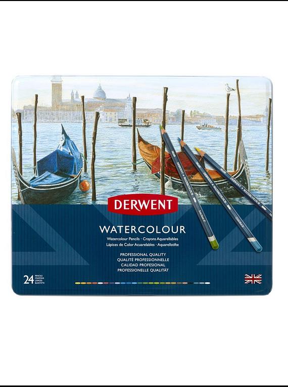 Derwent Watercolour - Set de 24 Lápices Acuarelables