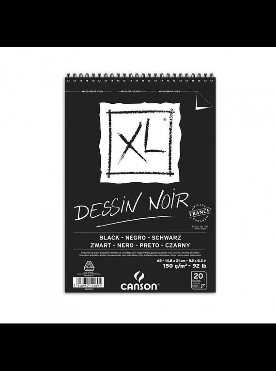 Canson XL - Croquera Dessin Noir, A5 14,8 x 21 cm, 20 Hojas, 150 gr/m2