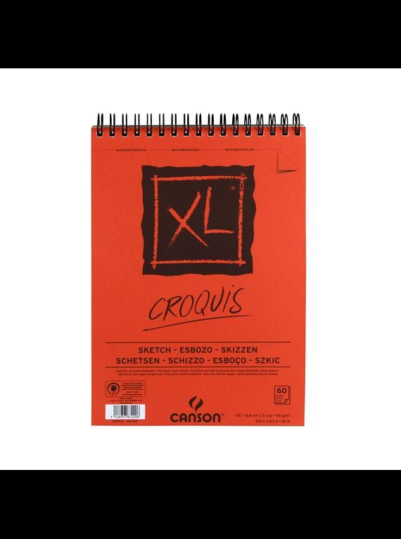 Canson XL - Croquera Croquis, A5 14,8 x 21 cm, 60 Hojas, 90 gr/m2