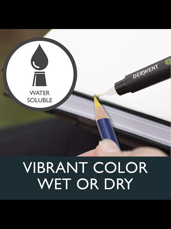 Derwent ® Inktense - 12 Lápices de Colores Tinta