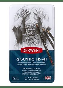 Derwent Graphic - Set 12 Lápices Grafito Medios
