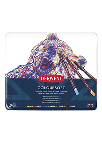 Derwent Coloursoft - Set 24 Lápices de Colores Blandos