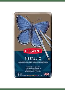 Derwent ® - Set 12 Lápices De Colores Metálicos