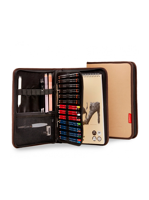 Derwent Carry All - Estuche de Arte A4 Folio; 68 Lápices