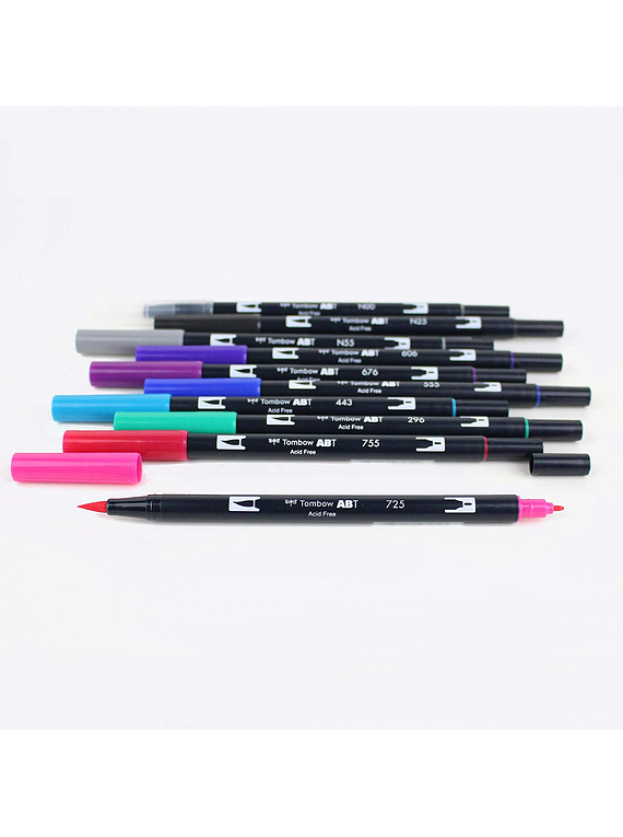 Tombow Dual Brush - Set 10 Marcadores; Colores Galaxia