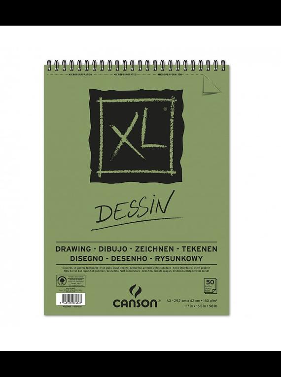 Canson XL - Croquera Dessin, A3 29,7 x 42 cm, 50 Hojas, 160 gr/m2