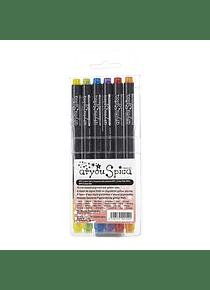 Too Markers Atyou Spica - Set 6 Tiralíneas Color Set 2; Glitter