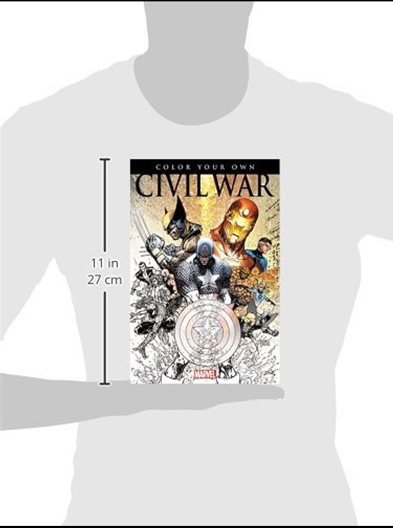 Marvel Color Your Own - Libro para Colorear; Civil War