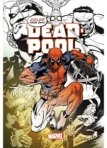 Marvel Color Your Own - Libro para Colorear; Dead Pool