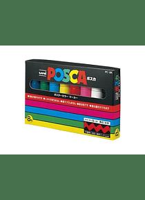 Uni Posca - Set 8 Marcadores PC-8K; Anchos