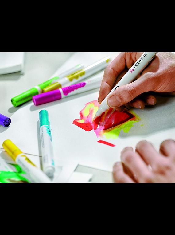Royal Talens Ecoline - Set 5 Marcadores Brush Pen; Primario