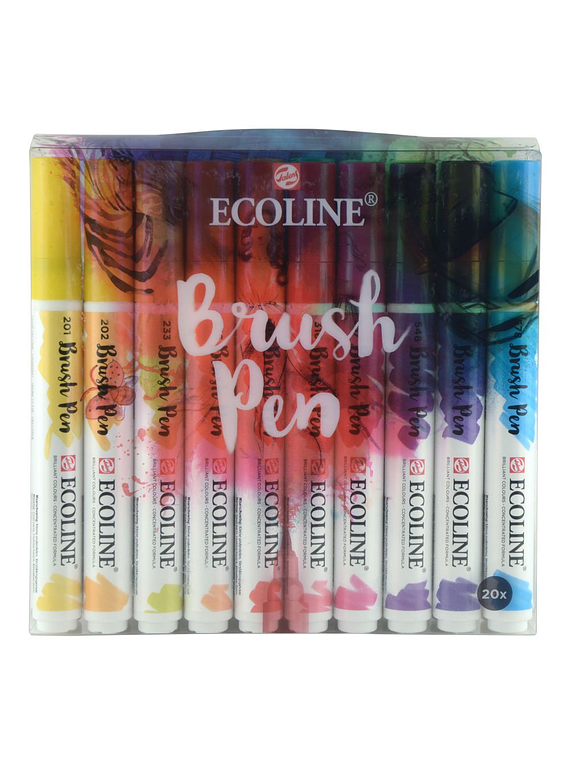 Royal Talens Ecoline - Set 20 Marcadores Brush Pen