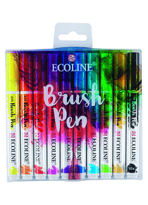 Royal Talens Ecoline - Set 10 Marcadores Brush Pen