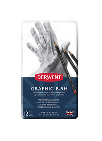 Derwent Graphic - Set 12 Lápices Grafito Duros