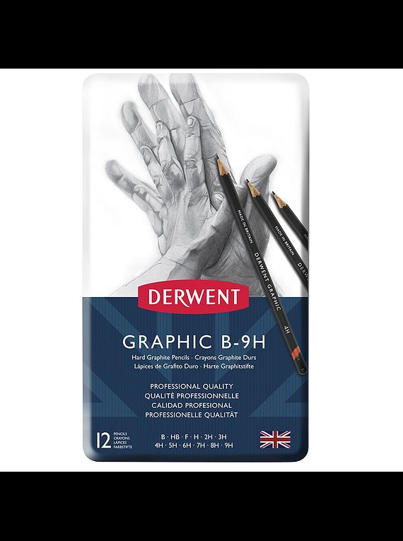 Derwent Graphic - Set 12 Lápices Grafito Duros