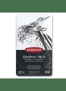 Derwent Graphic - Set 12 Lápices Grafito Blandos
