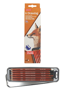 Derwent Drawing - Set 6 Lápices de Colores; Blandos