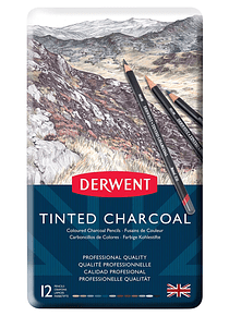 Derwent Tinted Charcoal - Set 12 Lápices Carboncillo Entintado