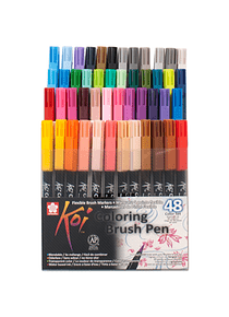 Sakura Koi - Set 48 Marcadores Coloring Brush Pens