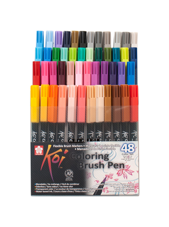 Sakura Koi - Set 48 Marcadores Coloring Brush Pens