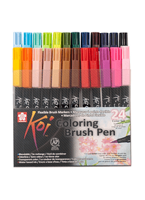 Sakura Koi - Set 24 Marcadores Coloring Brush Pens