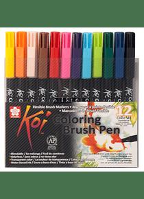 Sakura Koi - Set 12 Marcadores Coloring Brush Pens