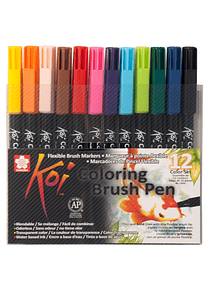 Sakura Koi - Set 12 Marcadores Coloring Brush Pens