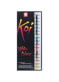 Sakura Koi - Set 18 Acuarelas Water Colors; Tubos de 12 ml