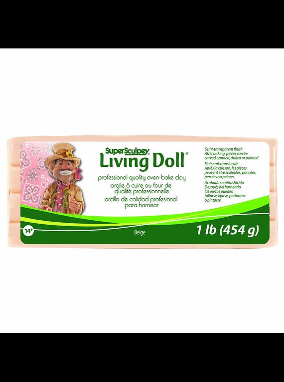 Super Sculpey Living Doll - Arcilla Polimérica Beige; 1 lb (454 g)