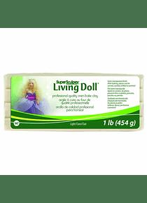 Super Sculpey Living Doll - Arcilla Polimérica Light (Claro); 1 lb (454 g)