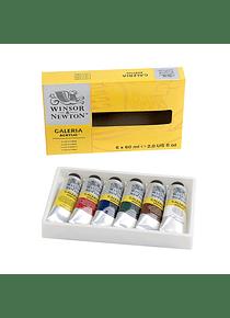Winsor & Newton Galería - Set 6 Acrílicos en Tubos de 60 ml
