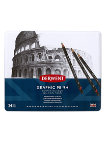 Derwent Graphic - Set 24 Lápices Grafito de 9B a 9H