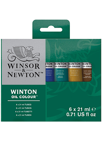 Winsor & Newton Winton - Set 6 Óleos en Tubos de 21 ml