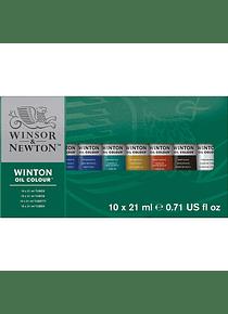 Winsor & Newton Winton - Set 10 Óleos en Tubos de 21 ml