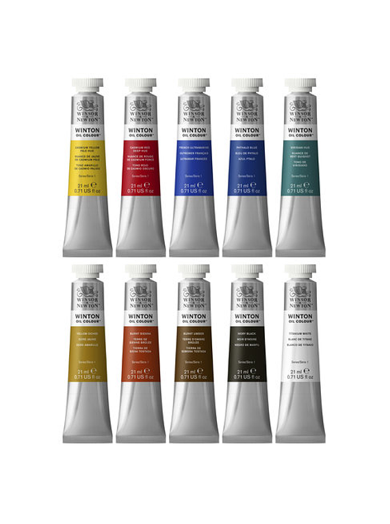 Winsor & Newton Winton - Set 10 Óleos en Tubos de 21 ml