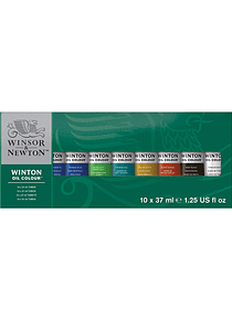 Winsor & Newton Winton - Set 10 Óleos en Tubos de 37 ml