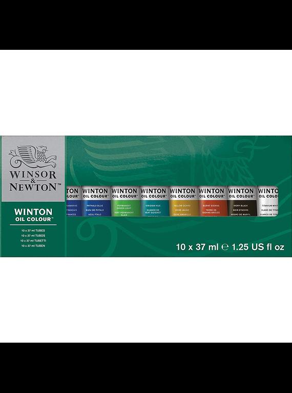 Winsor & Newton Winton - Set 10 Óleos en Tubos de 37 ml