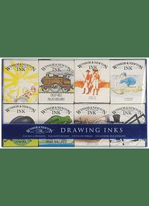 Winsor & Newton - Set 8 Tintas de Dibujo Sir William Collection