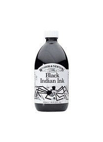 Winsor & Newton - Tinta para Dibujo Black Indian Ink, 500 ml