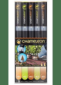 Chameleon Color Tones - Set 5 Marcadores Tonos Tierra