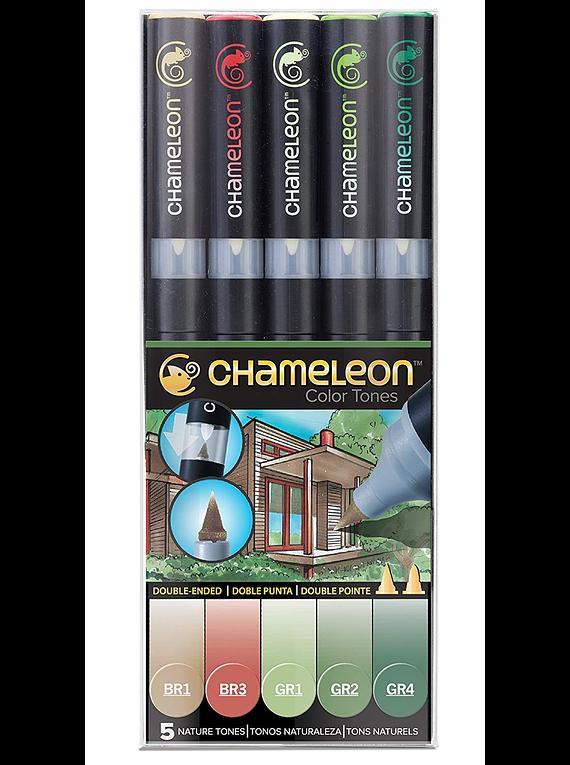 Chameleon Color Tones - Set 5 Marcadores Tonos Naturaleza