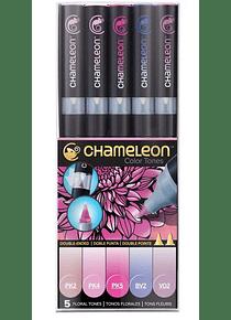 Chameleon Color Tones - Set 5 Marcadores Tonos Florales